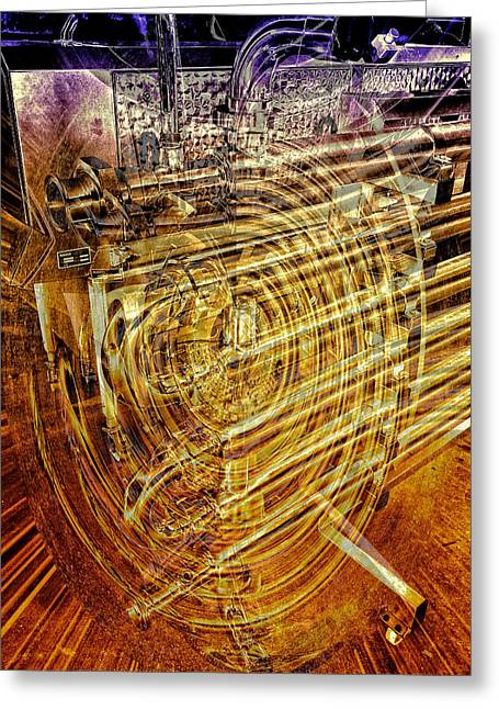 Industrial Background Greeting Cards - Heat Exchanger Greeting Card by Claire Hull