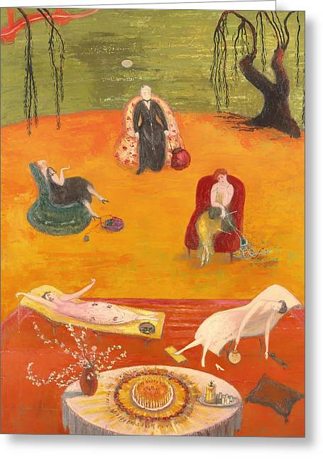 Sweltering Greeting Cards - Heat Greeting Card by Florine Stettheimer