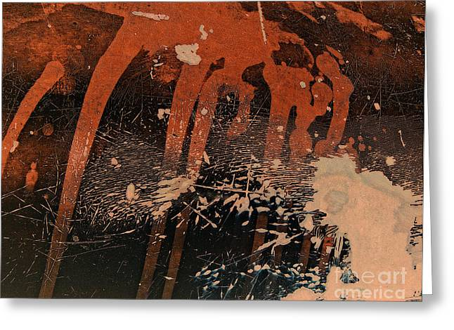 Industrial Background Greeting Cards - Heat of the Moment Abstract Greeting Card by Lee Craig