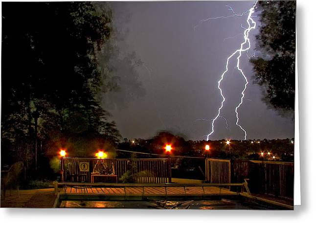Storm Prints Greeting Cards - Heat of the Night Greeting Card by Steve Harrington