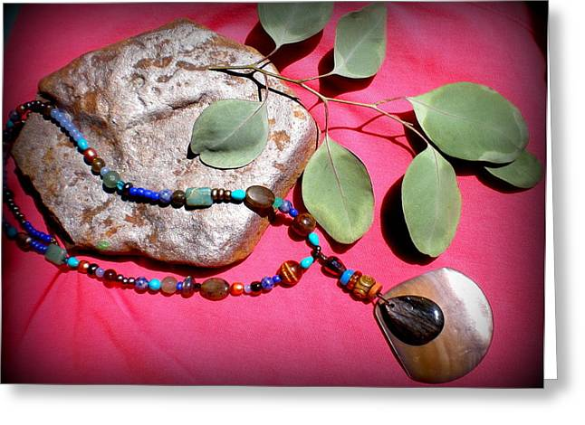 Rock Jewelry Greeting Cards - Heat of the Sun Greeting Card by Beth Sebring