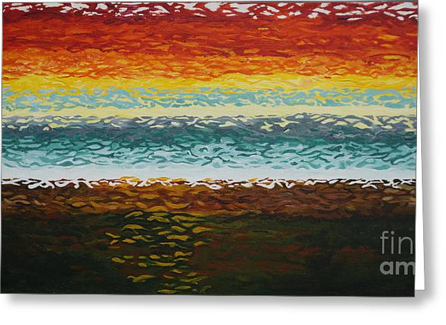 Seacape Digital Art Greeting Cards - Heat reflections Greeting Card by Merrin Jeff