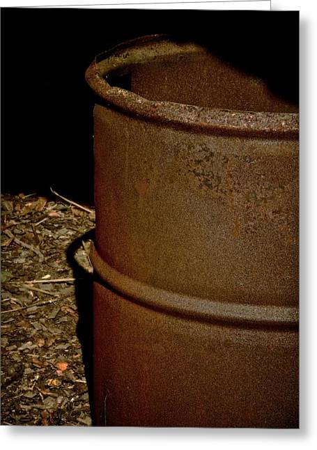 Rusty Oil Drum Greeting Cards - Heater Greeting Card by Odd Jeppesen