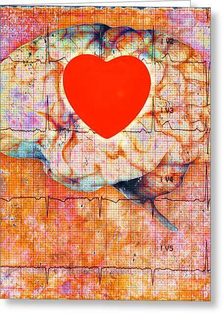 Heath Brain Greeting Card by George Mattei