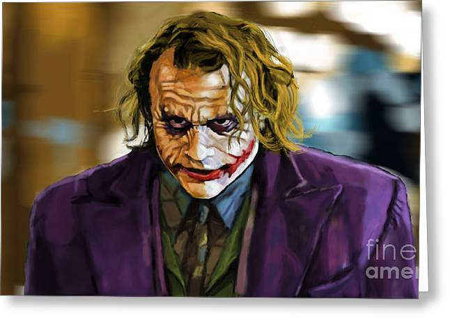Why So Serious Greeting Cards - Heath Ledger as The Joker Greeting Card by Eric Mark Thompson