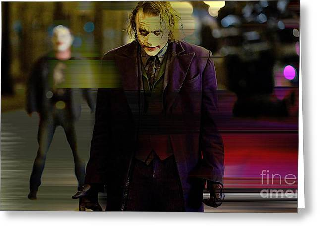 Heath Ledger Greeting Card by Marvin Blaine