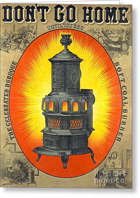 Heating Stove Ad 1874 Greeting Card by Padre Art