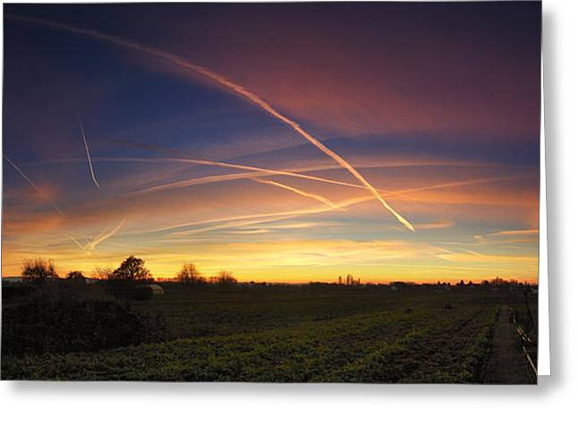 Himmel Greeting Cards - Heaven airways Greeting Card by Philippe Meisburger