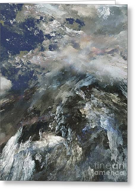 The Hills Greeting Cards - Heaven and Earth Meets Greeting Card by Klara Acel
