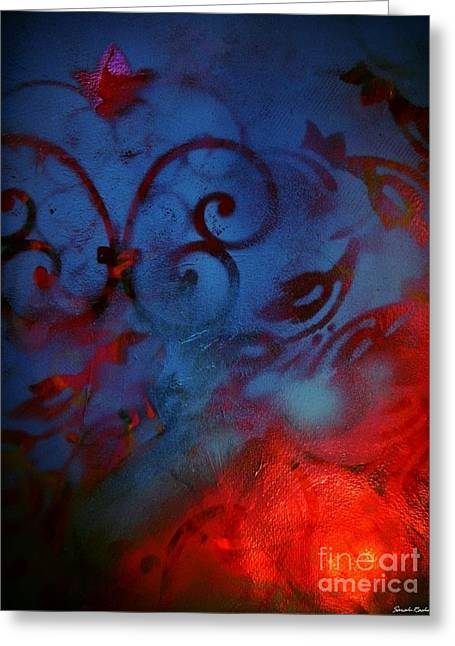 Merged Mixed Media Greeting Cards - Heaven And Hells Co-existance Greeting Card by Sarah  Rachel