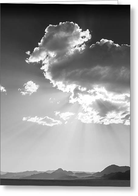 Speed Week Greeting Cards - Heaven and Speed I - Bonneville Salt Flats Greeting Card by Holly Martin