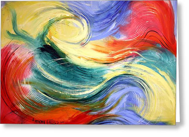 Abstract Greeting Cards Greeting Cards - Heaven Greeting Card by Anthony Falbo