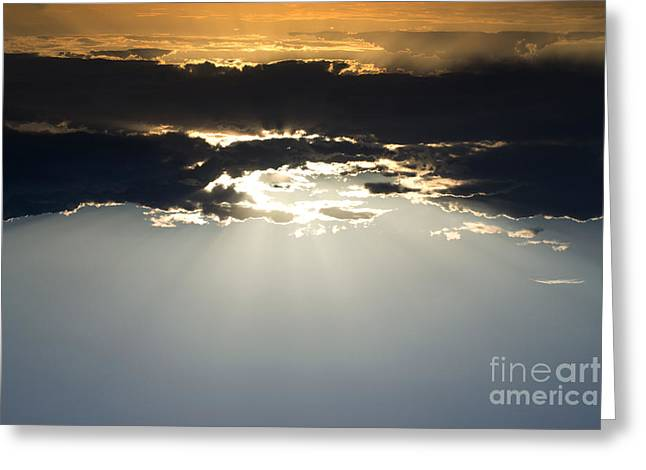 Sunset Framed Prints Mixed Media Greeting Cards - Heaven Greeting Card by Beverly Guilliams