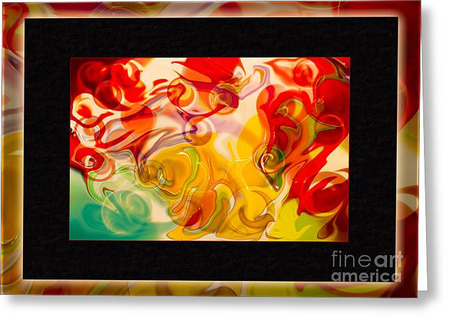 Counterculture Mixed Media Greeting Cards - Heaven Conquers Hell an Abstract Adventure Greeting Card by Omaste Witkowski