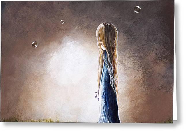 Heaven Heard Her Prayers Tonight by Shawna Erback Greeting Card by Shawna Erback