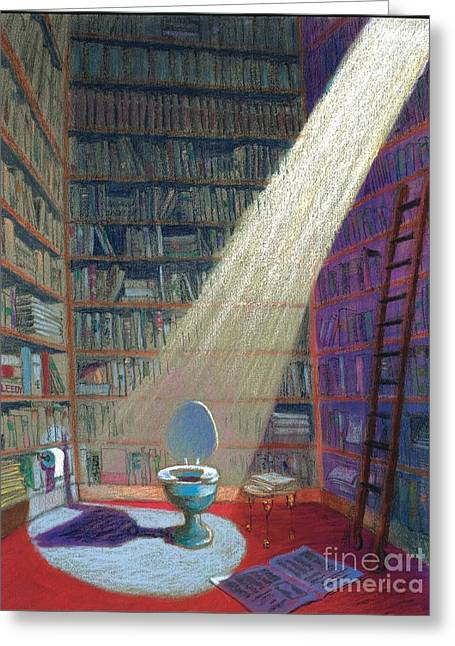 Library Pastels Greeting Cards - Heaven Greeting Card by Jeff Leedy