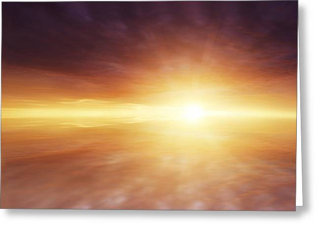Spirituality Greeting Cards - Heaven Greeting Card by Les Cunliffe
