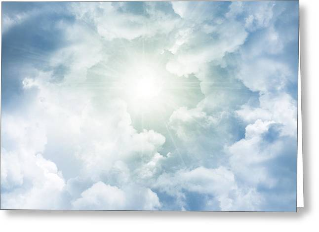 Heaven Photographs Greeting Cards - Heaven light Greeting Card by Les Cunliffe