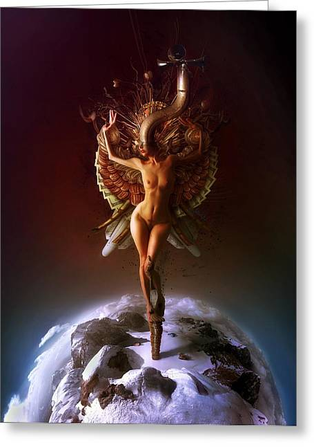 Eve Greeting Cards - Heaven Greeting Card by Mario Sanchez Nevado