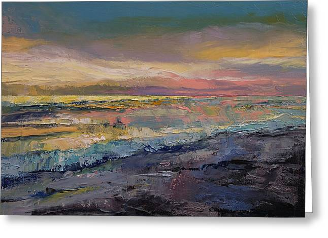 Abstract Seascape Greeting Cards - Heaven Greeting Card by Michael Creese