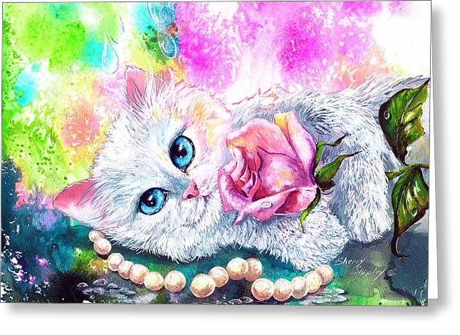 Birthstone Greeting Cards - Heaven Sent Greeting Card by Sherry Shipley