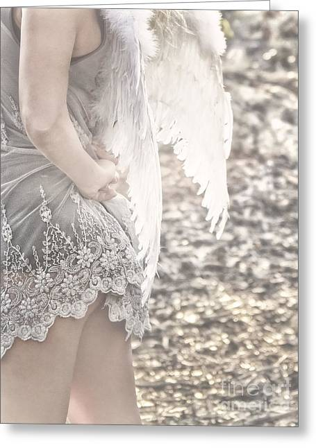 White Wing Greeting Cards - Heaven Greeting Card by Stylianos Kleanthous