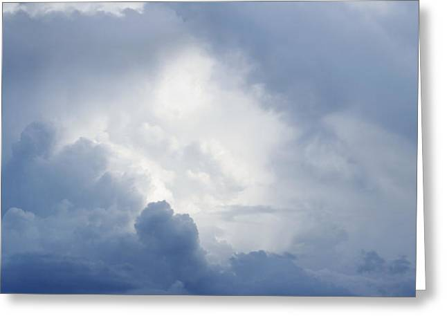 Dramatic Sky Greeting Cards - Heavenly clouds Greeting Card by Les Cunliffe