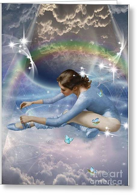 Tying Shoe Greeting Cards - Heavenly Dancer Greeting Card by Brenda Rich