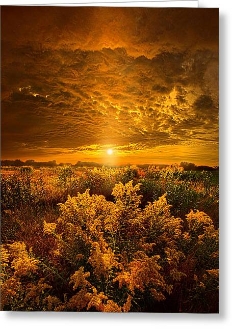 Twilight Greeting Cards - Heavenly Earth Greeting Card by Phil Koch