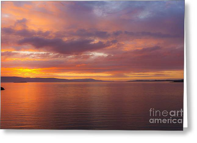 Heavenly Fire Greeting Card by Heiko Koehrer-Wagner