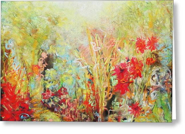 Pastel Palette Greeting Cards - Heavenly Garden Greeting Card by Katie Black
