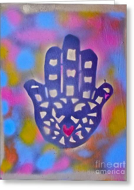 Heavenly Hamza Greeting Card by Tony B Conscious