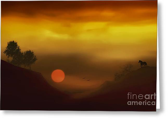 Sundown Framed Prints Greeting Cards - Heavenly Harmony Greeting Card by Tom York Images