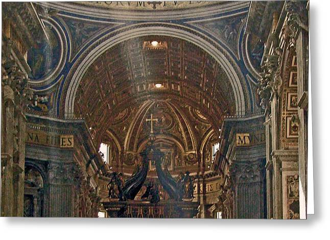 Baldacchino Greeting Cards - Heavenly Light Greeting Card by Jean Hall