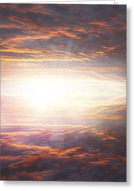 Heavenly Sunrise Greeting Cards - Heavenly light Greeting Card by Les Cunliffe
