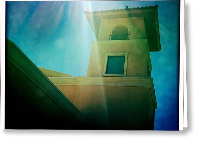 Saint Jude Greeting Cards - Heavenly Light Greeting Card by Mark David Gerson