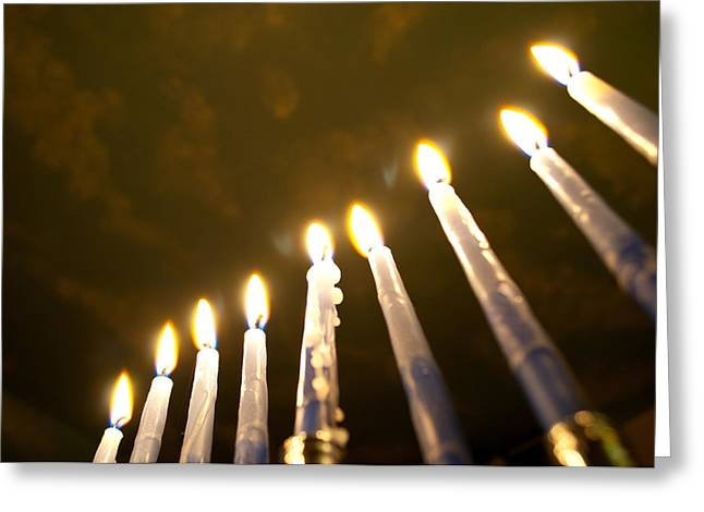 Chanukkah Greeting Cards - Heavenly Lights Greeting Card by Roger Reeves  and Terrie Heslop