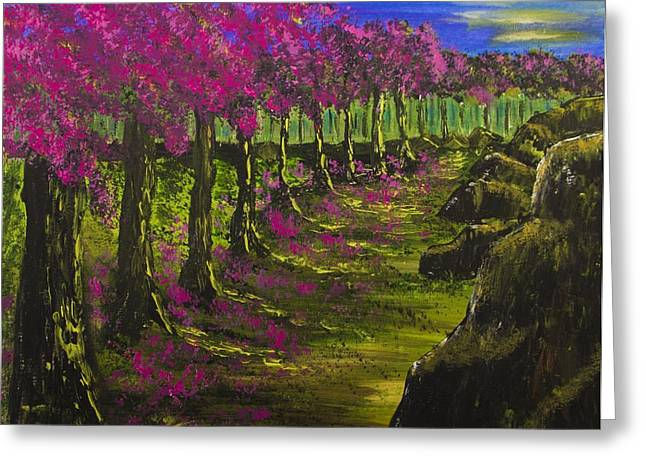 Enlightened Path Greeting Cards - Heavenly Path Greeting Card by Jacqueline Martin