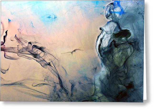Angel Blues Greeting Cards - Heavenly  Greeting Card by Petros Yiannakas