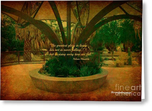 Digital Art Greeting Cards - Heavenly Place In The Desert Greeting Card by Sherri  Of Palm Springs