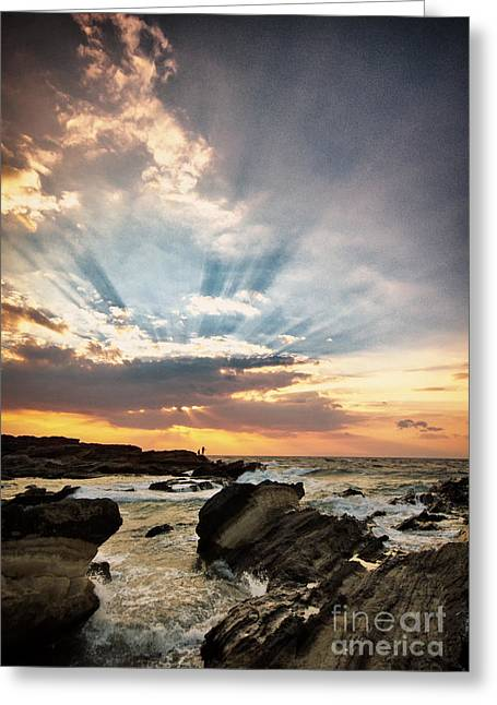 Saint Hope Greeting Cards - Heavenly Skies Greeting Card by John Swartz