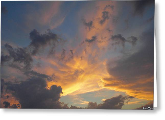 Sunset Greeting Cards Greeting Cards - Heavenly Sky Greeting Card by Bill Woodstock