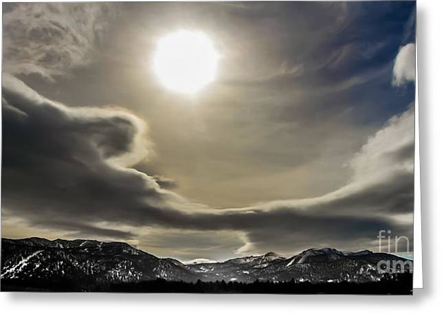 Ski Art Greeting Cards - Heavenly Sky Greeting Card by Mitch Shindelbower