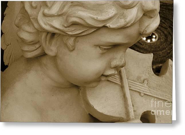 Heavenly Violine Greeting Card by Susanne Van Hulst