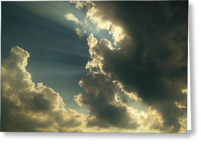 Dark Skies Pyrography Greeting Cards - Heavenly yours Greeting Card by Marco Cuba-Ricsi