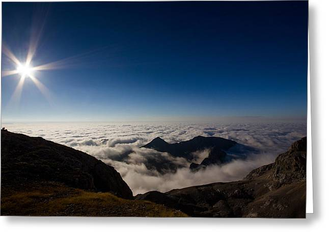 Mountain Valley Greeting Cards - Heavens Above Greeting Card by Ian Hufton