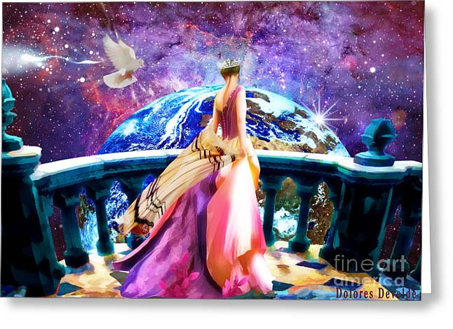 New Earth Greeting Cards - Heavens Balcony Greeting Card by Dolores Develde