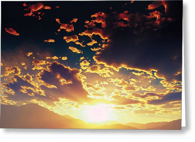 Terragen Greeting Cards - Heavens Breath 25 Greeting Card by Jeanette Charlebois