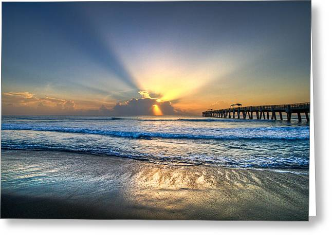 Lights Greeting Cards - Heavens Door Greeting Card by Debra and Dave Vanderlaan