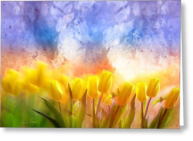 Jennifer Page Greeting Cards - Heavens Garden Greeting Card by Jennifer Page